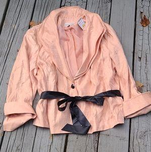 Victor Costa Salmon colored dress coat